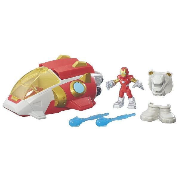 Marvel superhero adventures Iron Mn Starship, or Hulk Power Dozer Toy Playset